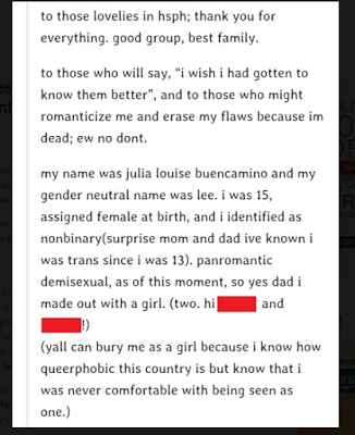 Julia Buencamino's Last Note Found on Her Tumblr Account Before She Committed Suicide | The Confidential Files