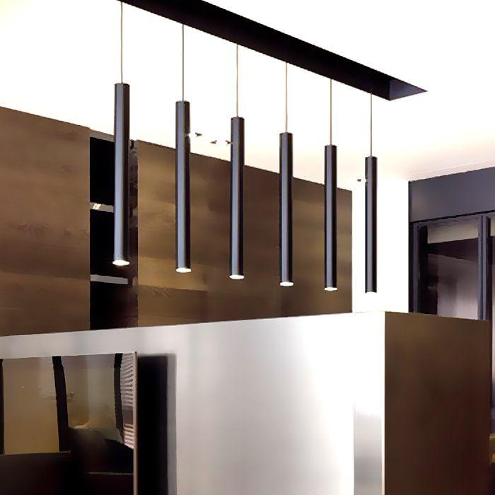 LukLoy Cylinder Aluminum Pendant Lamp Lights For Study Room Kitchen Island Dining Living Shop Decoration