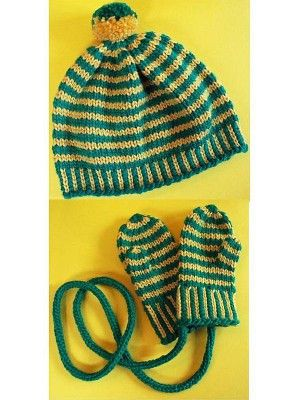 Cascade C242 Banding Together Hat & Mittens | Knitting ...
