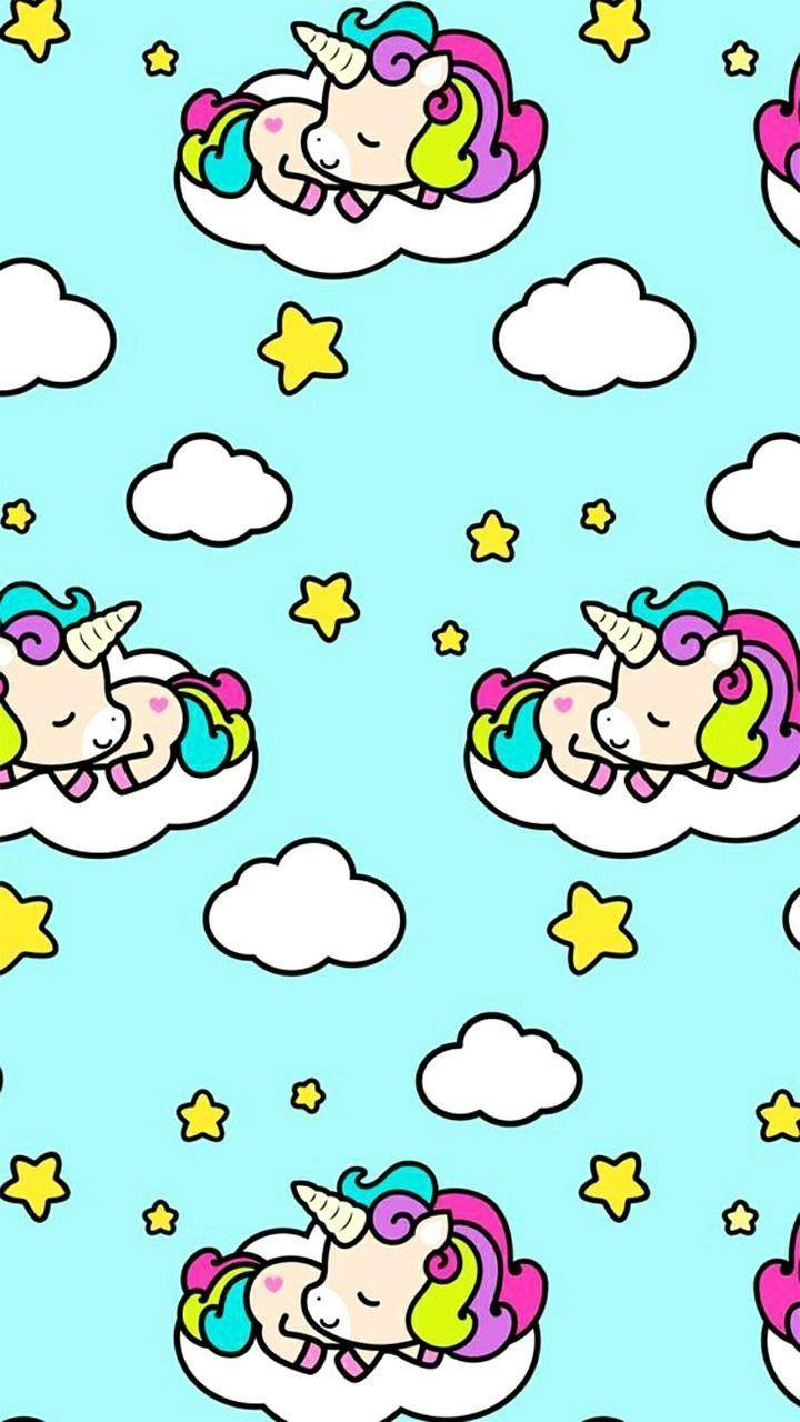Awesome Kawaii Unicorn Wallpapers - WallpaperAccess