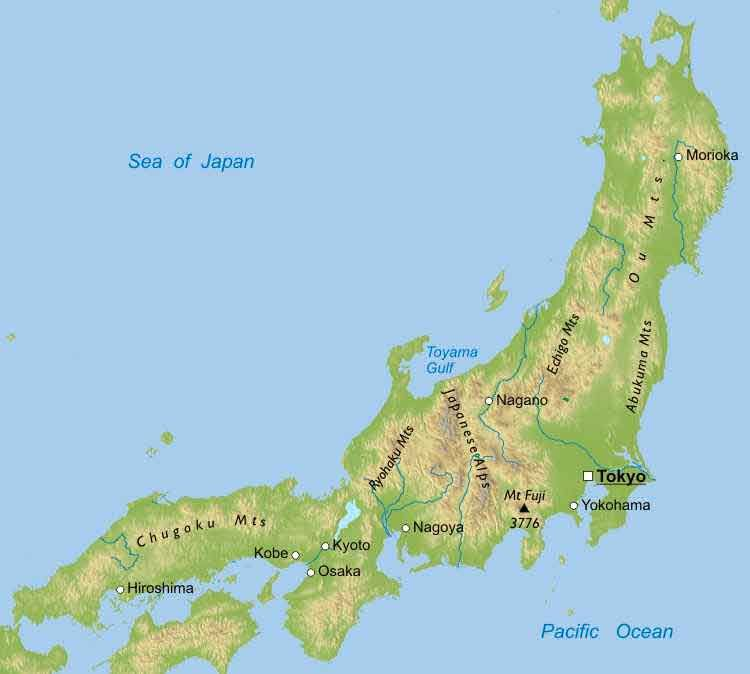 Physical Map of Japan World Building Map Making Reference Pinterest - new world map showing tokyo japan