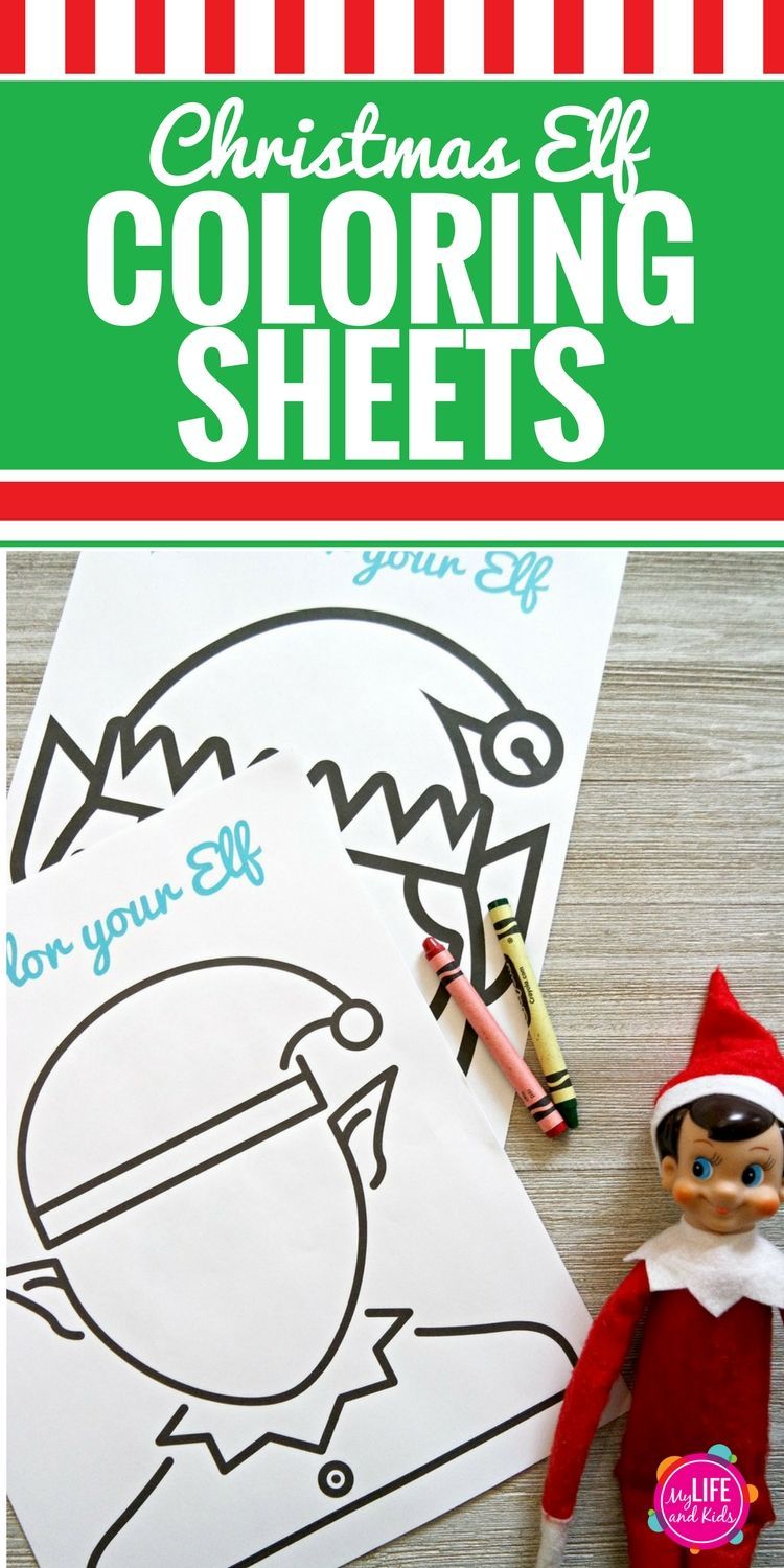 Christmas Elf Coloring Sheets | Kids colouring, Elves and Shelves