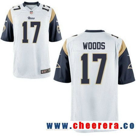 timeless design 40775 beada Men's Los Angeles Rams #17 Robert Woods White Road Stitched ...