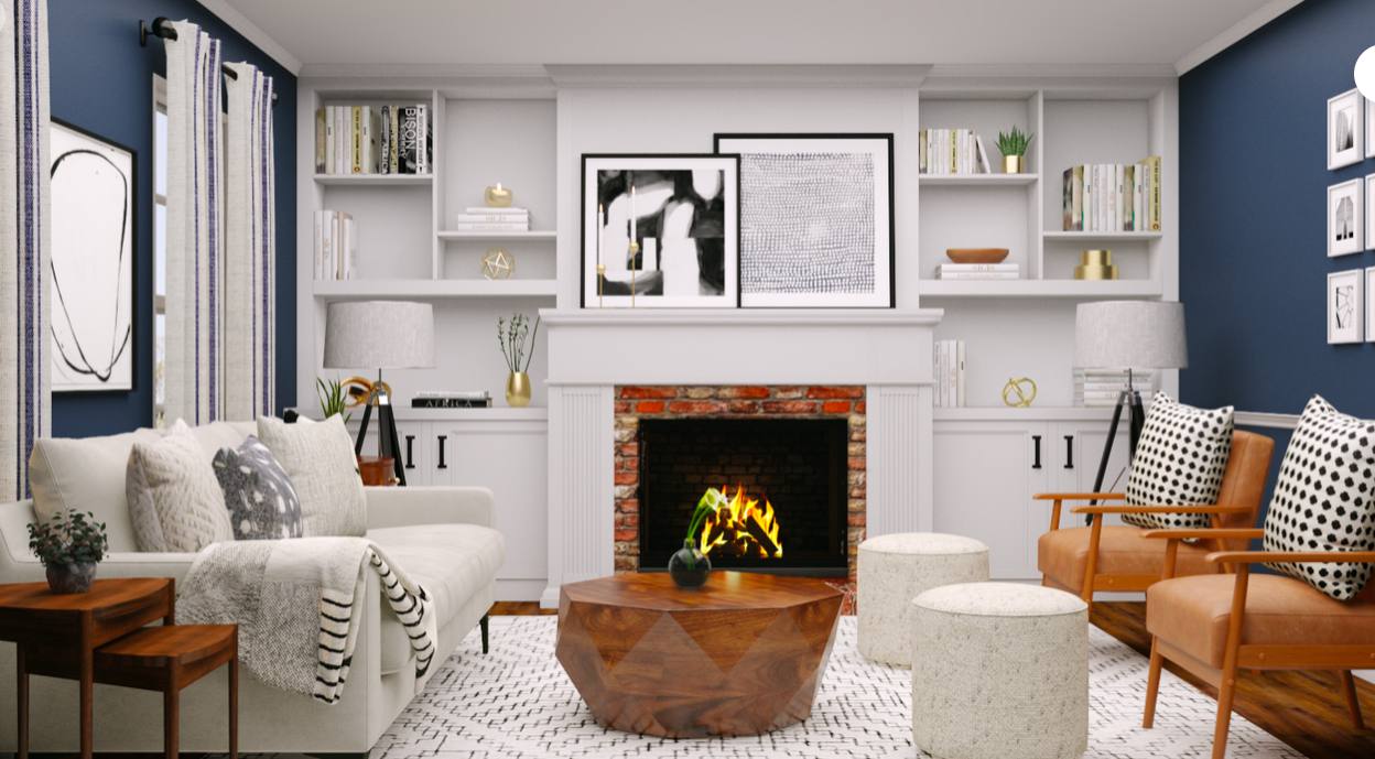 Living Room Utm Source Pinterest Interior Designer Ideas Havenly In 2020 Eclectic Living Room Classic Living Room Modern Eclectic Living Room
