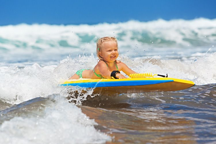 How To Teach Your Kid To Bodyboard Toddler Beach Bodyboarding Surfer Baby