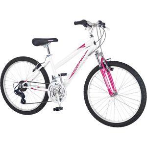 Walmart 24 Roadmaster Granite Peak Girls Mountain Bike White Mountain Bike Girls Mountain Biking Women Mountain Bike Reviews