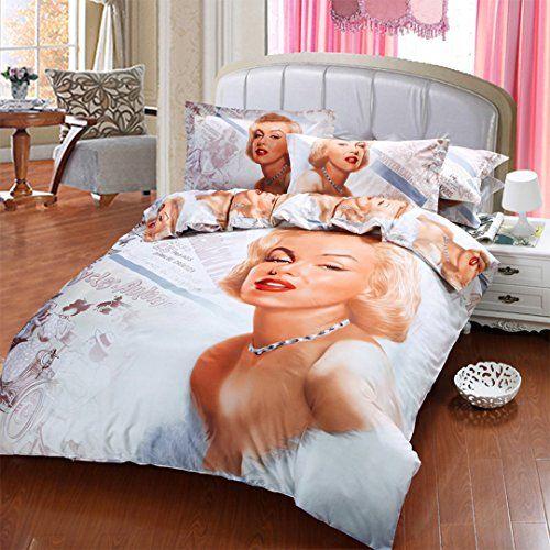Robot Check Marilyn Monroe Decor Duvet Bedding Sets Duvet Covers