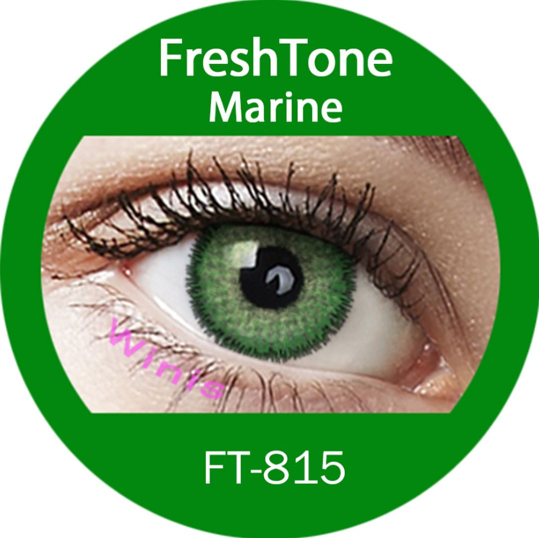 Freshtone Marine Color Contact Lenses Case Included Worldwide Shipping Free In The