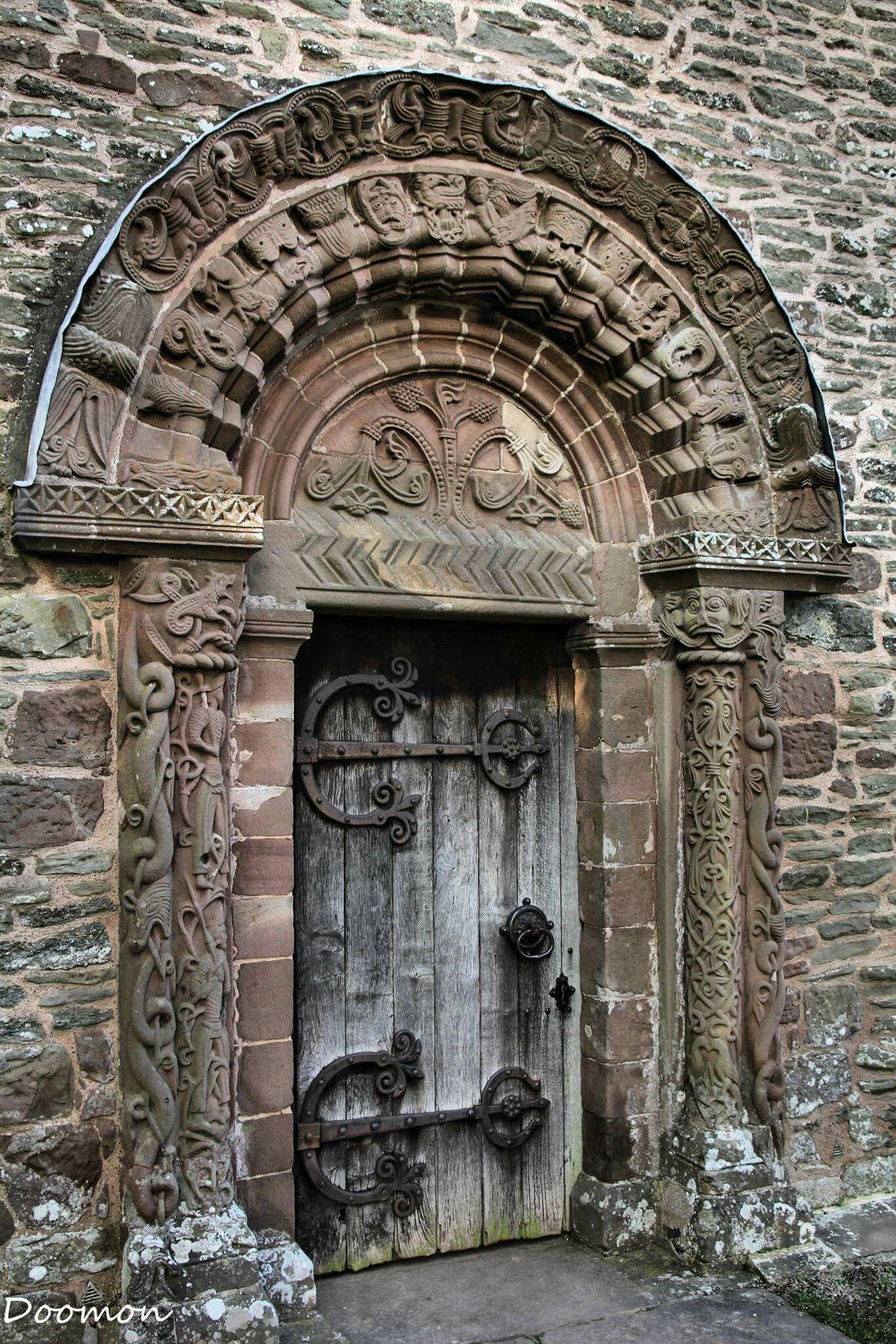 The Carved Norman Door At Kilpeck Church Herefordshire Doors Beautiful Doors Cool Doors