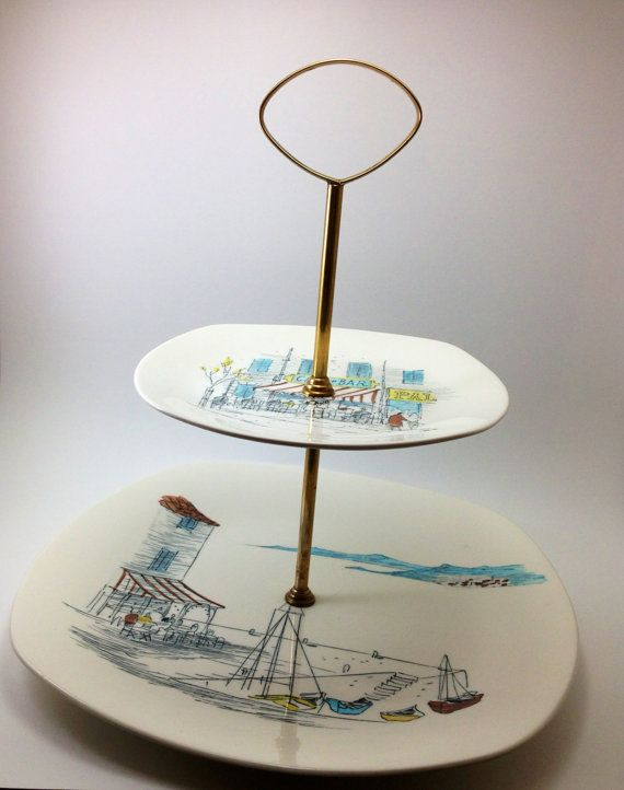 Vintage Midwinter Stylecraft Tiered Cake Stand by ProctorCreations $45.00 : stackable cake plates - Pezcame.Com