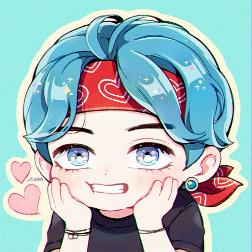 𝘉𝘈𝘛𝘈💙 on in 2020 Taehyung fanart, Bts drawings, Cute