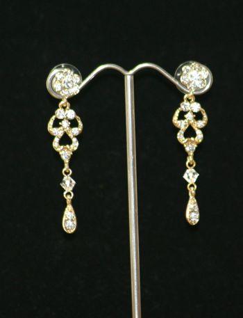 SE113 - Diamonte teardrop and swarovski crystal earrings http://www.ashop.net.au/p/388462/SE---Diamonte-teardrop-and-swarovski-crystal-earrings.html