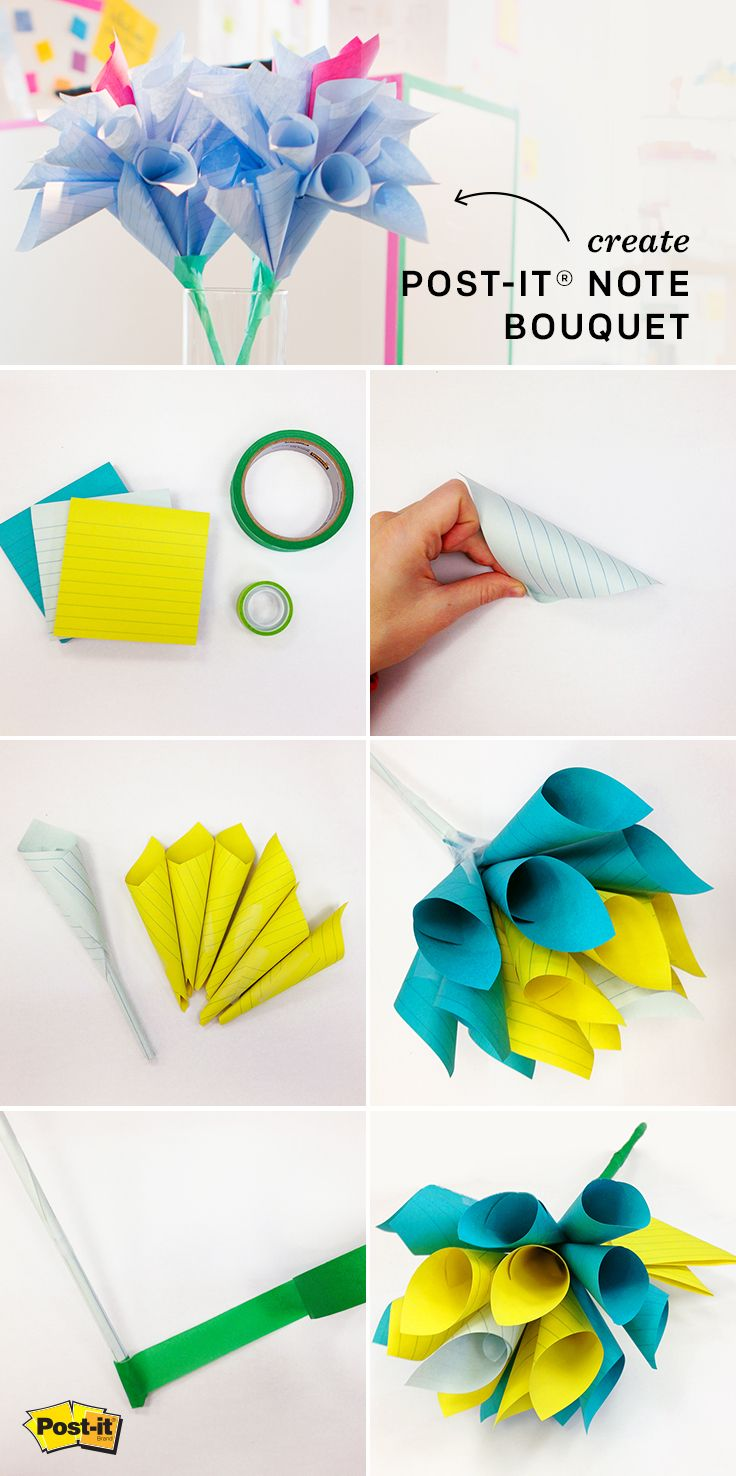 Looking To Make Flowers That Last Use This Post It Note Paper