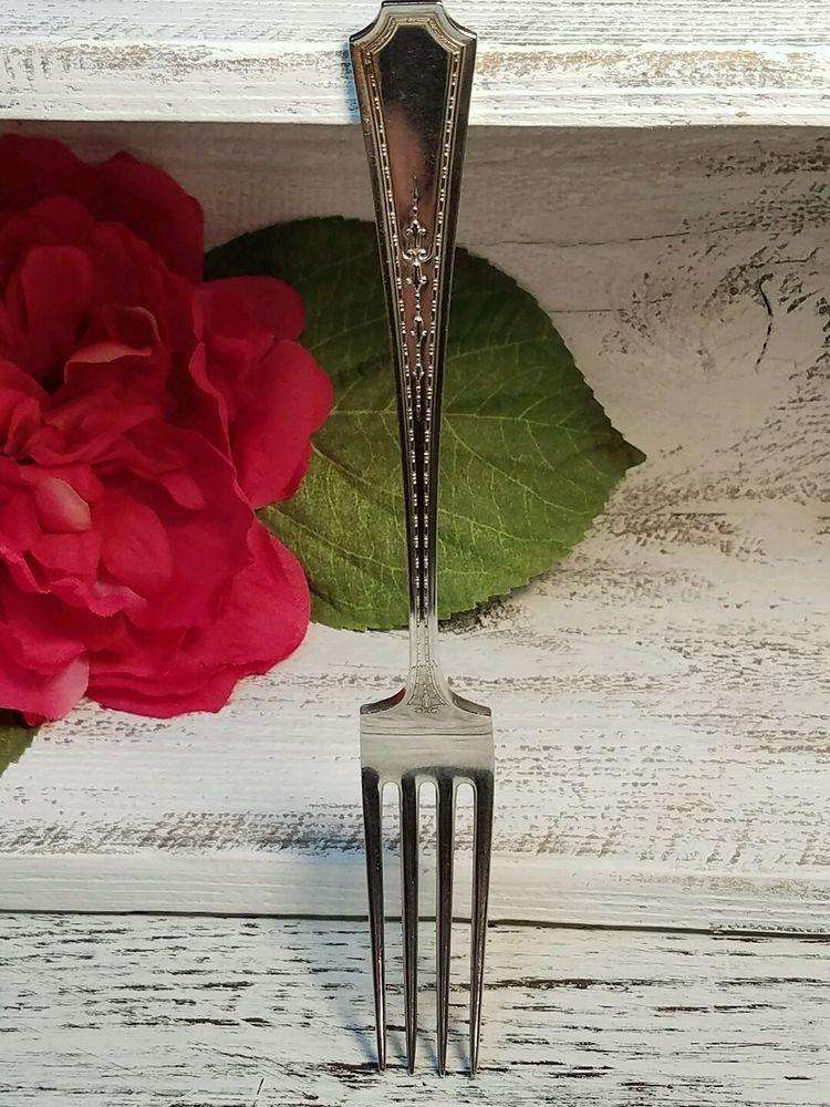 "Vintage Sterling Durgin Colfax Silver 7 1/4"" Fork ~ 1922 ~ No Mono!  | eBay"