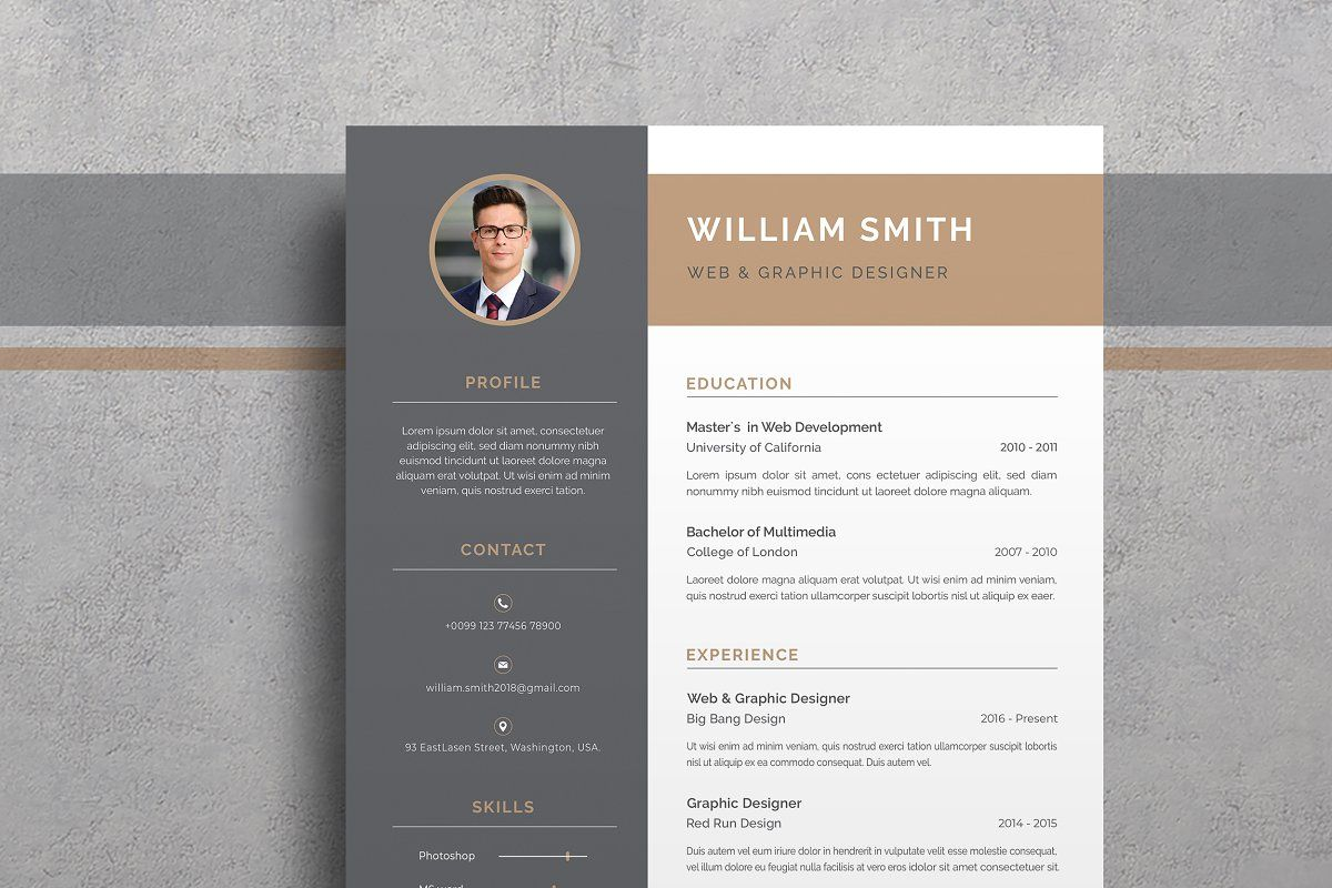 Word Resume/CV in 2020 Simple resume template, Cover