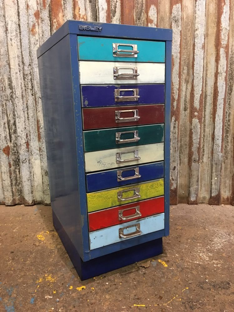 Metal Filing Drawers Vintage Cabinet Industrial Office Upcycled ...