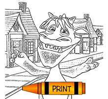 Halloween Coloring Pages Cartoon monsters, jack'o