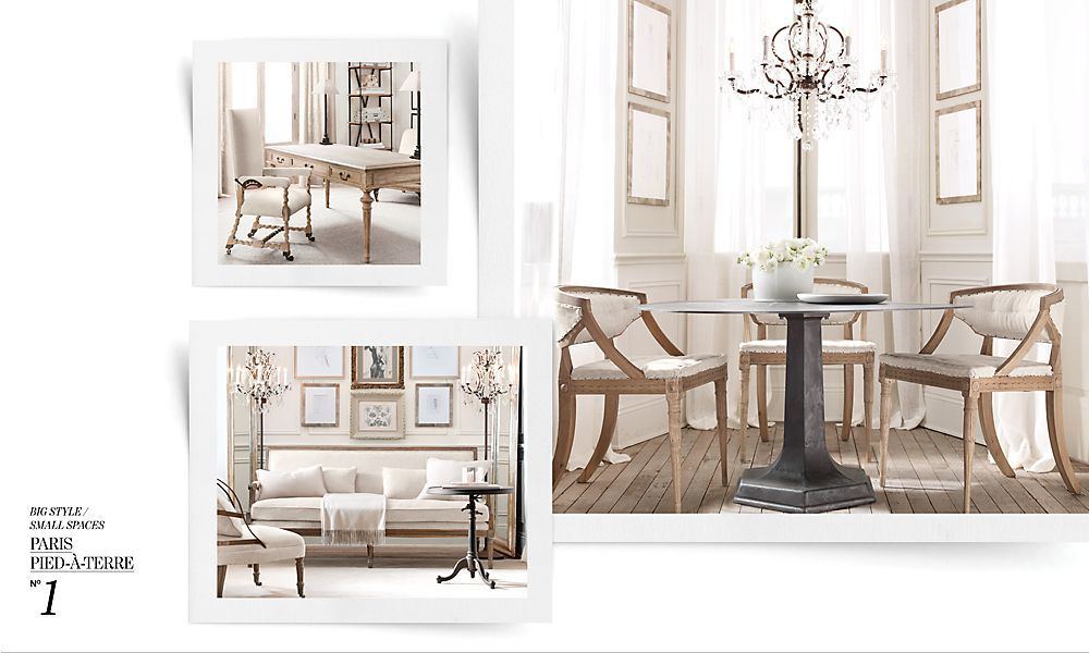 Restoration hardware small spaces spread. | For the Home | Pinterest ...