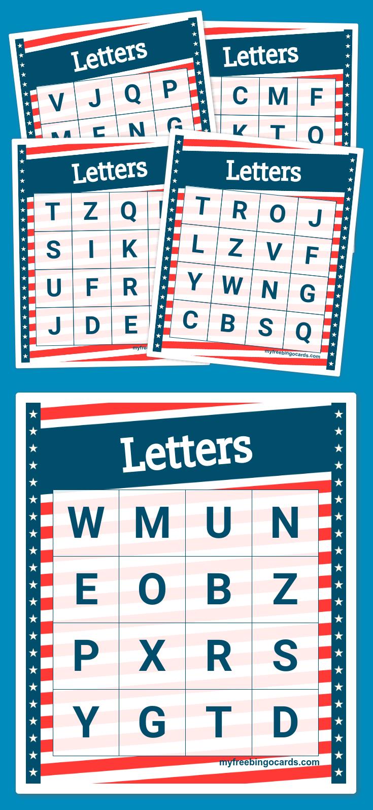 Letters Bingo | Education | Pinterest | Free printable bingo cards ...