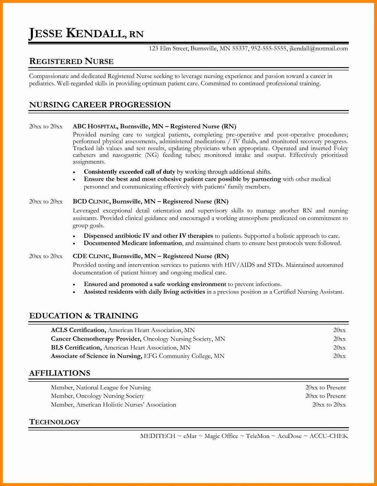 Things To Highlight On A Nurse Resume New Grad Registered Nurse Resume Nursing Resume Template Rn Resume