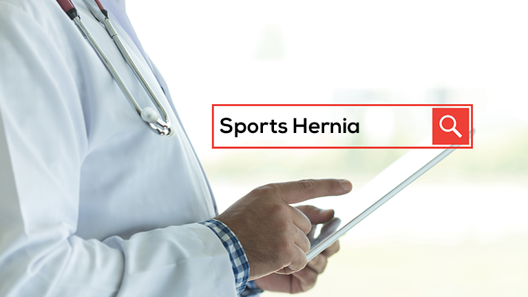 A sports hernia can occur to sports people. A laparoscopic
