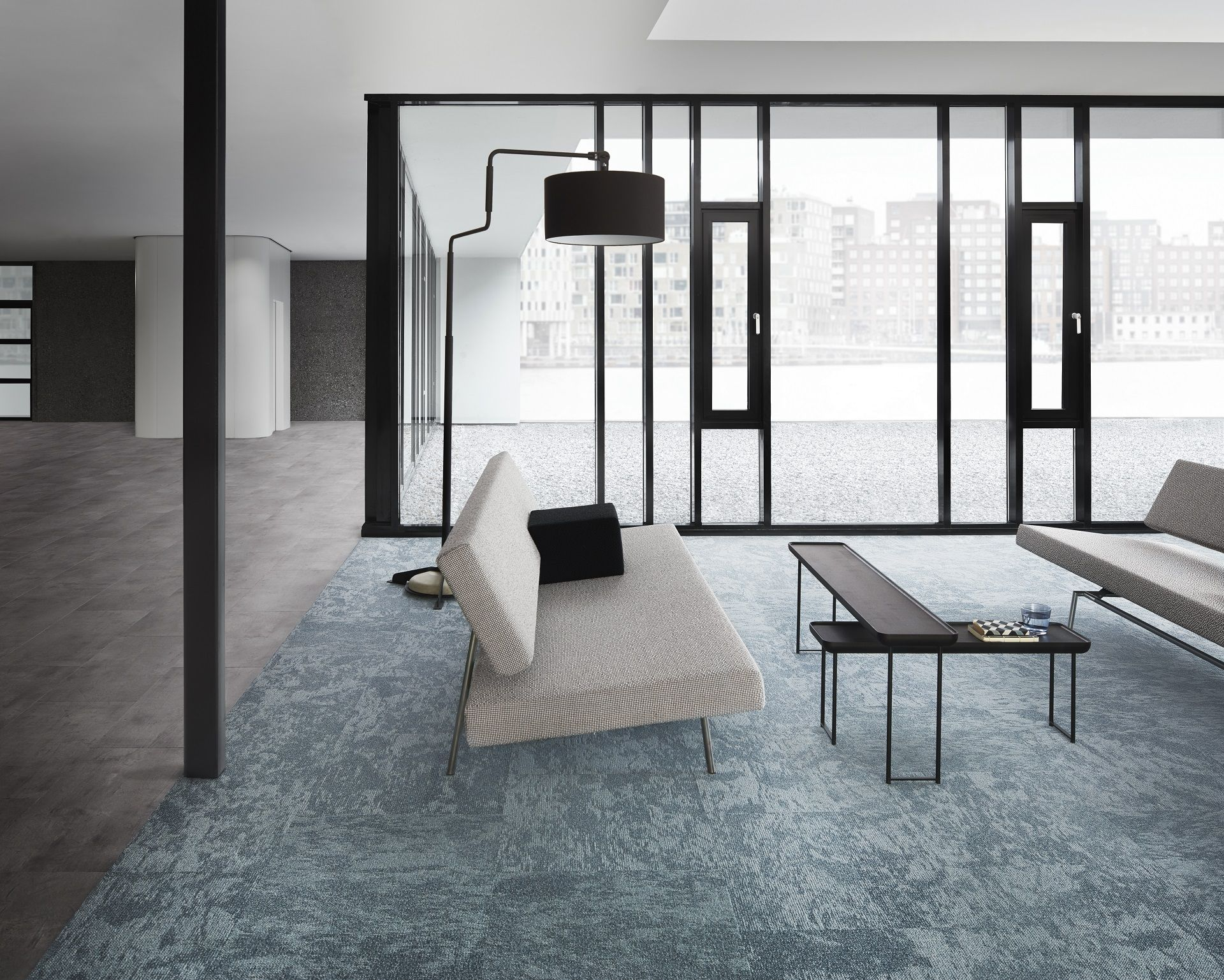 A Beautiful Balance Between Luxury Vinyl Tiles And Carpet