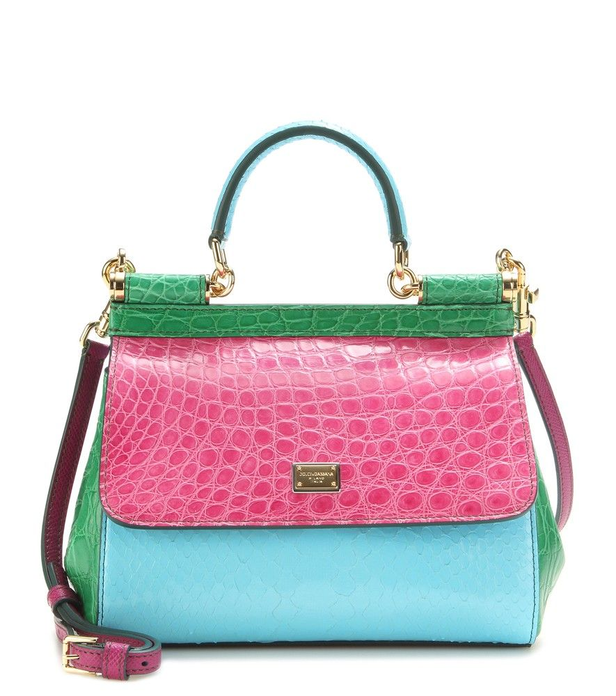 ... Dolce Gabbana - Miss Sicily Mini crocodile and python leather tote - In  a colourful best ... 06b24e964daac