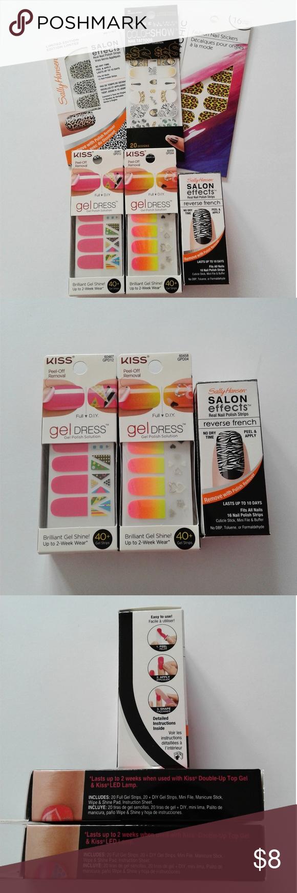 Maybelline, Sally Hansen, Kiss Nail Polish Strips NWT | Nail polish ...