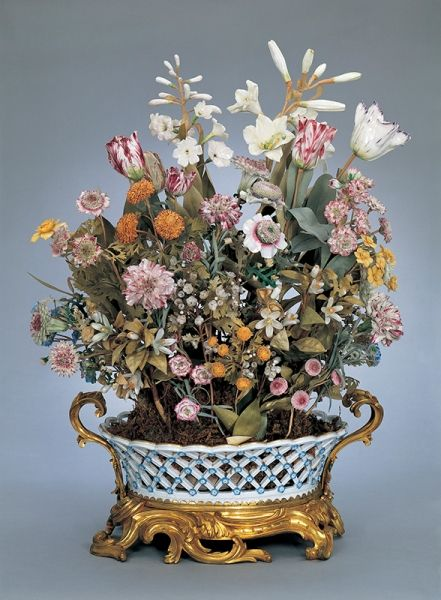Basket Of Flowers Ca 1751 Hard Paste Porcelain Soft Paste Porcelain And Gilt Bronze Wadsworth Atheneum Hartfo Art Decor Porcelain Flowers Porcelain Ceramics