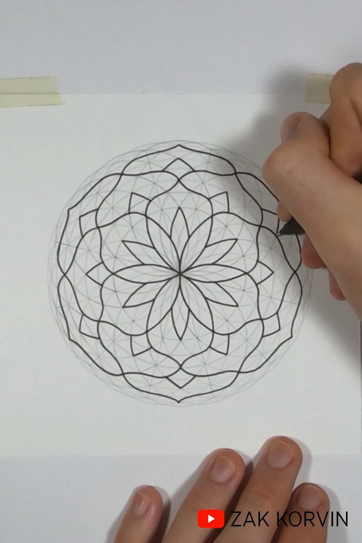 Sacred Geometry of a Mandala   How to Draw a Mandala   Drawing Meditation   Art Therapy