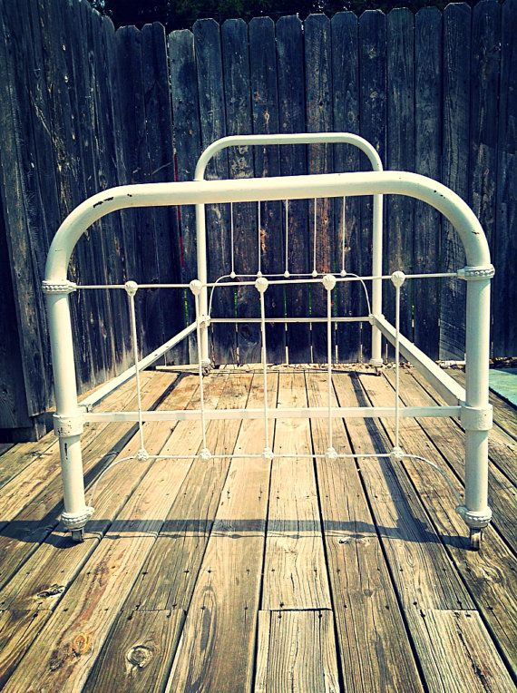Antique Cast Iron Twin Bed Frame On Etsy 425 00 Iron Bed Frame