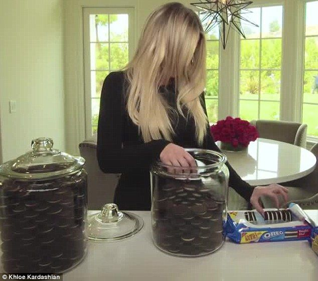 Khloe Kardashian Cookie Jar Interesting Khloe Kardashian's Grocery 'musthaves' Include Oreos Fruit And Inspiration Design