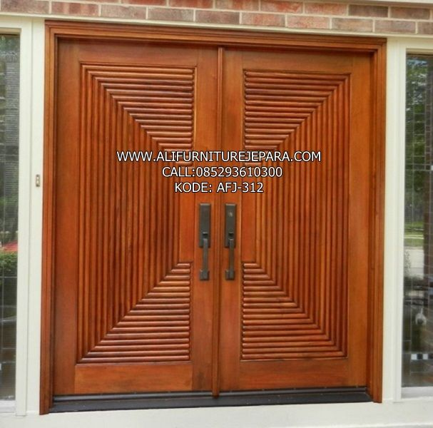 Model Pintu Utama Modern | Rumah, Kayu, Pintu