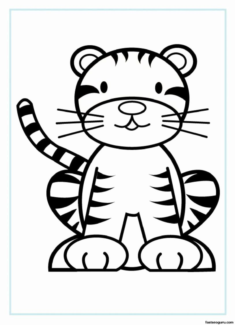 Sport Coloring Pages For Preschoolers Best Of Tiger Coloring Page