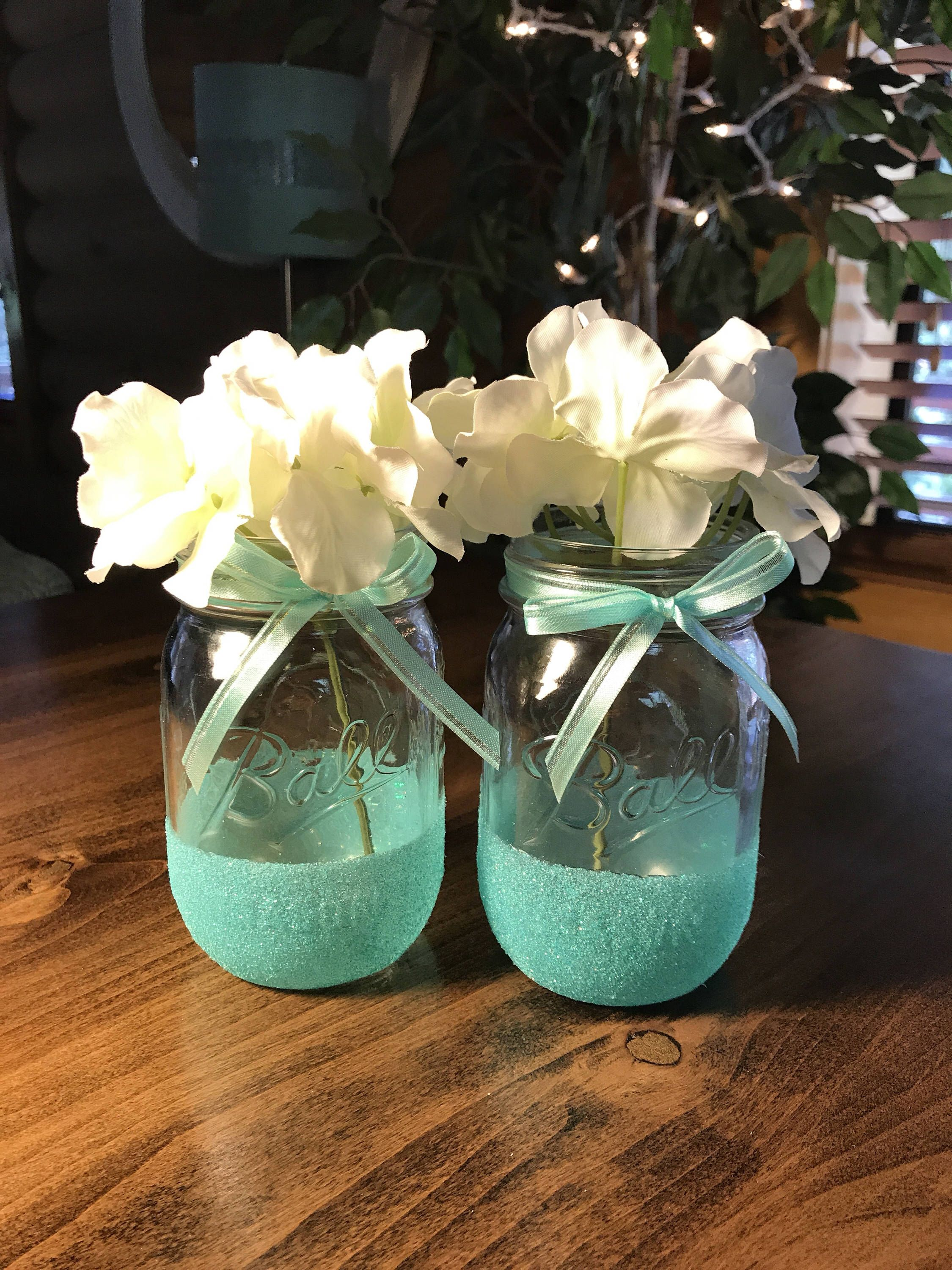 Glitter Mason Jars Set Of 2 Wedding Decor Mason Jar Decor Home Decor Rustic Mason Jar Decor Country Wedding Glitter Mason Jars Mason Glitter Mason Jars Wedding Centerpieces Mason Jars Mason