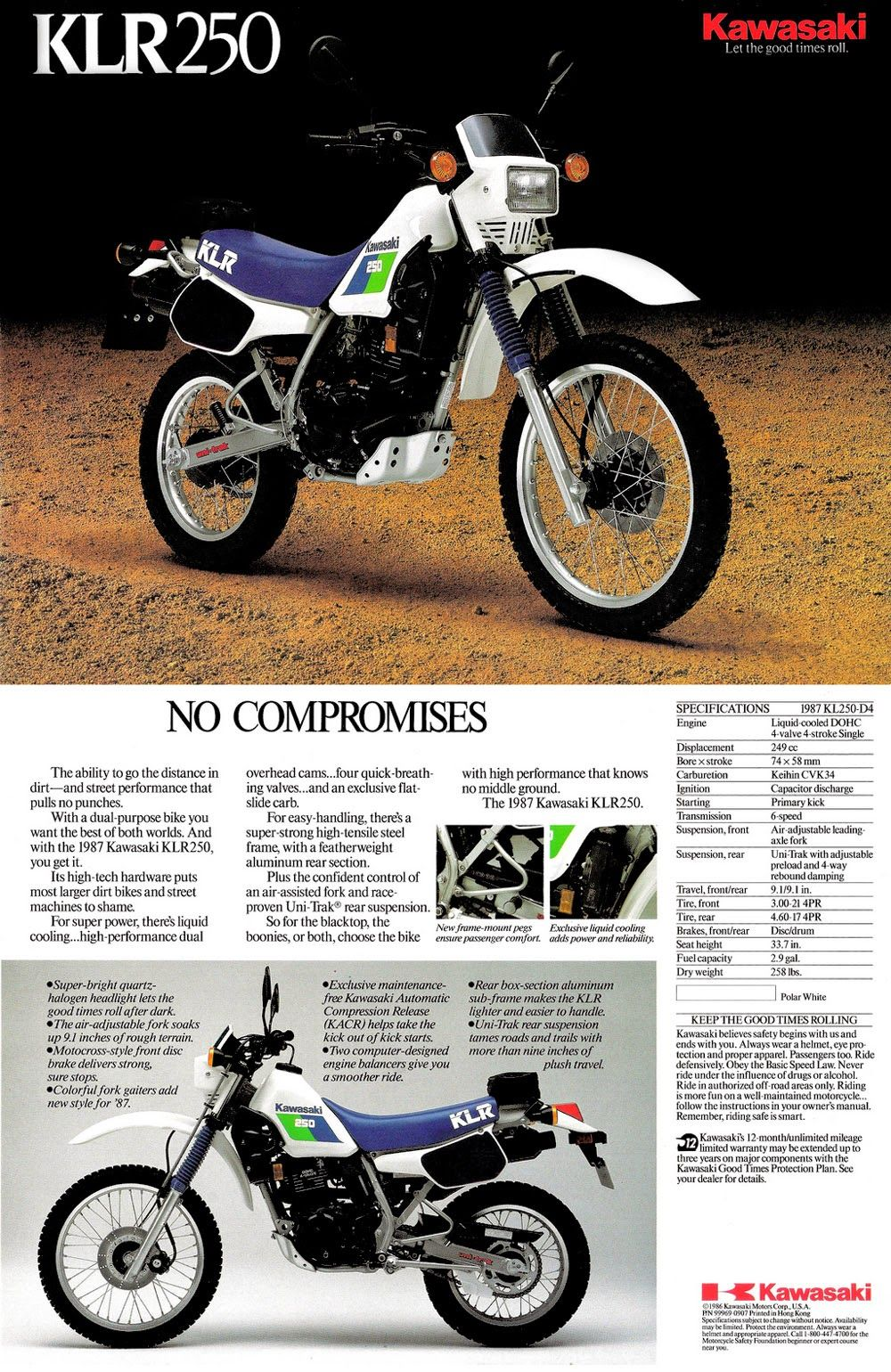 hight resolution of kawasaki klr 250