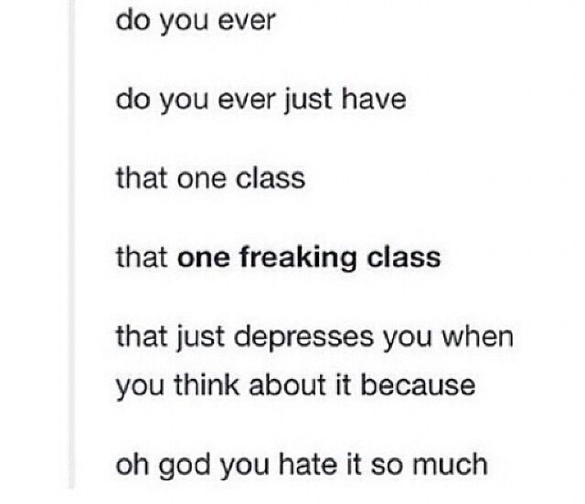 honestly, pretty much every class, but especially french ... I Hate Math In French
