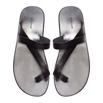 TOE SANDAL Shoes Man ZARA United States | Fashion