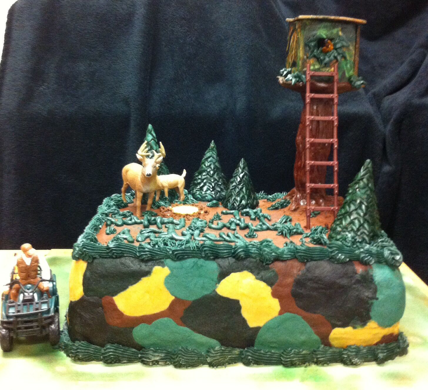 Hunting theme with deer stand Cake Nanna Pinterest Hunting