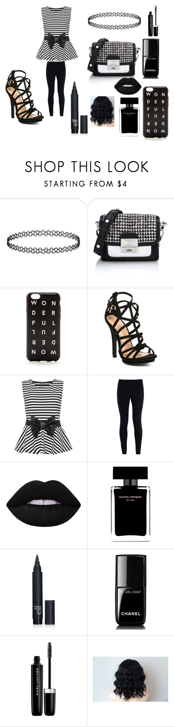 """""""Jackie  Skellington"""" by maddie-hatter23 ❤ liked on Polyvore featuring мода, Karl Lagerfeld, J.Crew, WearAll, NIKE, Lime Crime, Narciso Rodriguez, Chanel и Marc Jacobs"""