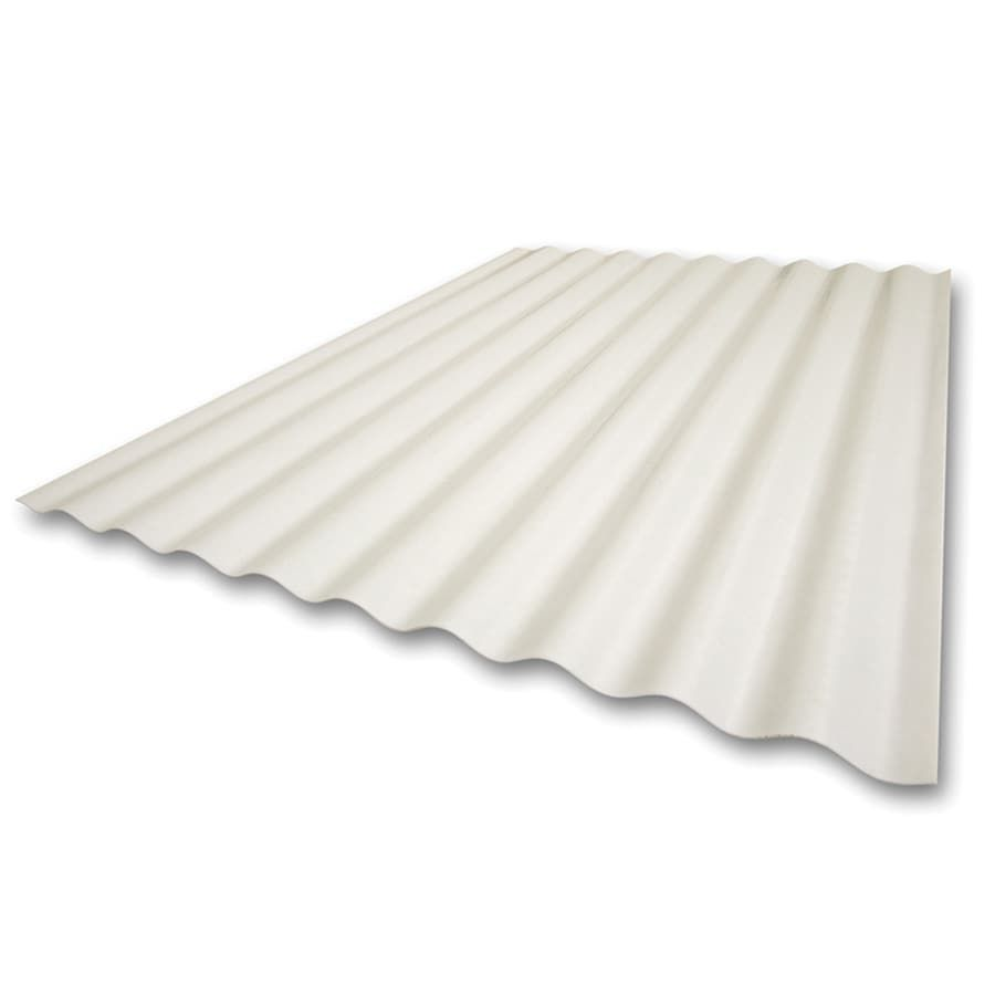 Sequentia 2 166 Ft X 12 Ft Corrugated White Fiberglass Roof Panel Lowes Com In 2020 Fibreglass Roof Roof Panels Fiberglass Roof Panels