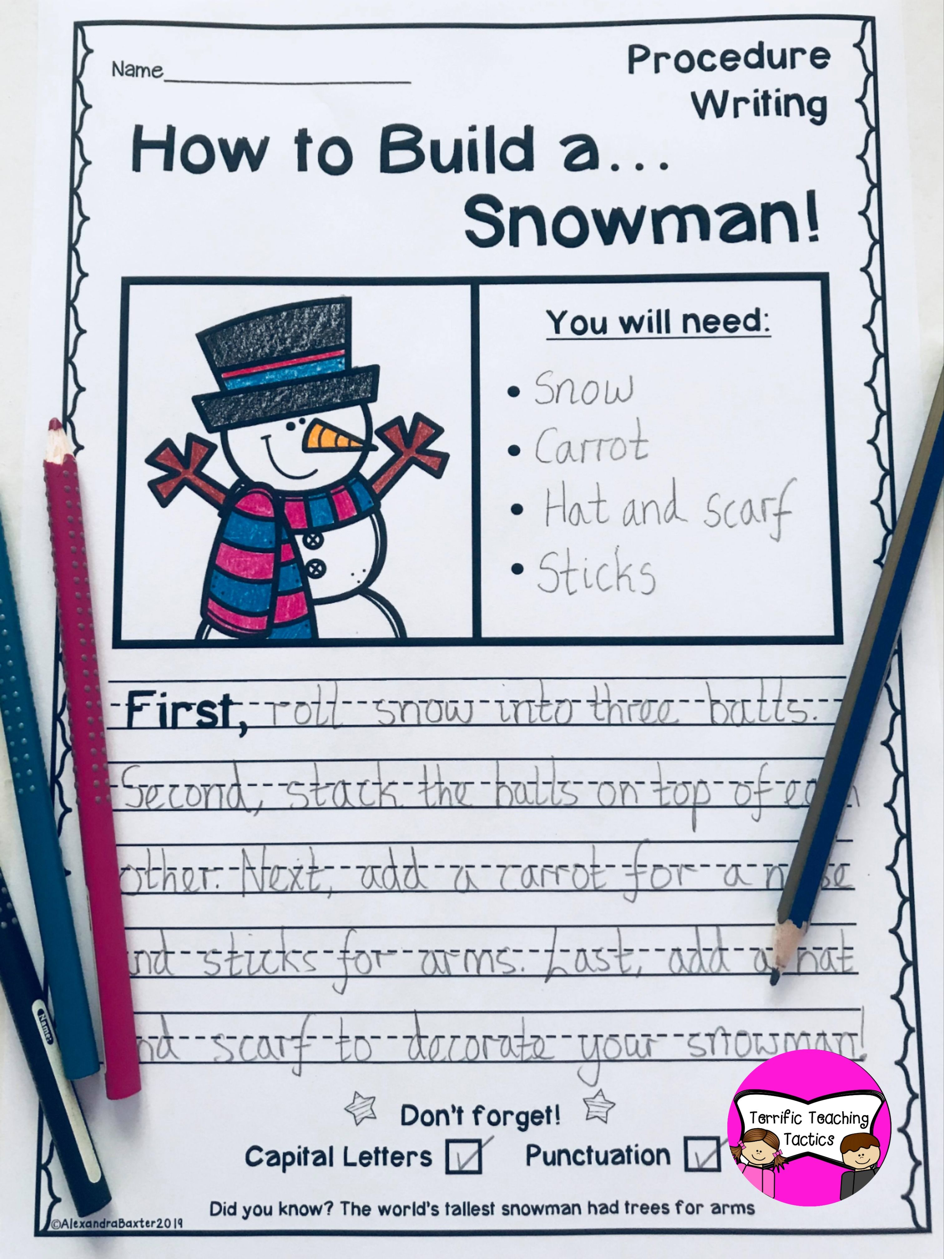January Writing Prompts Worksheets