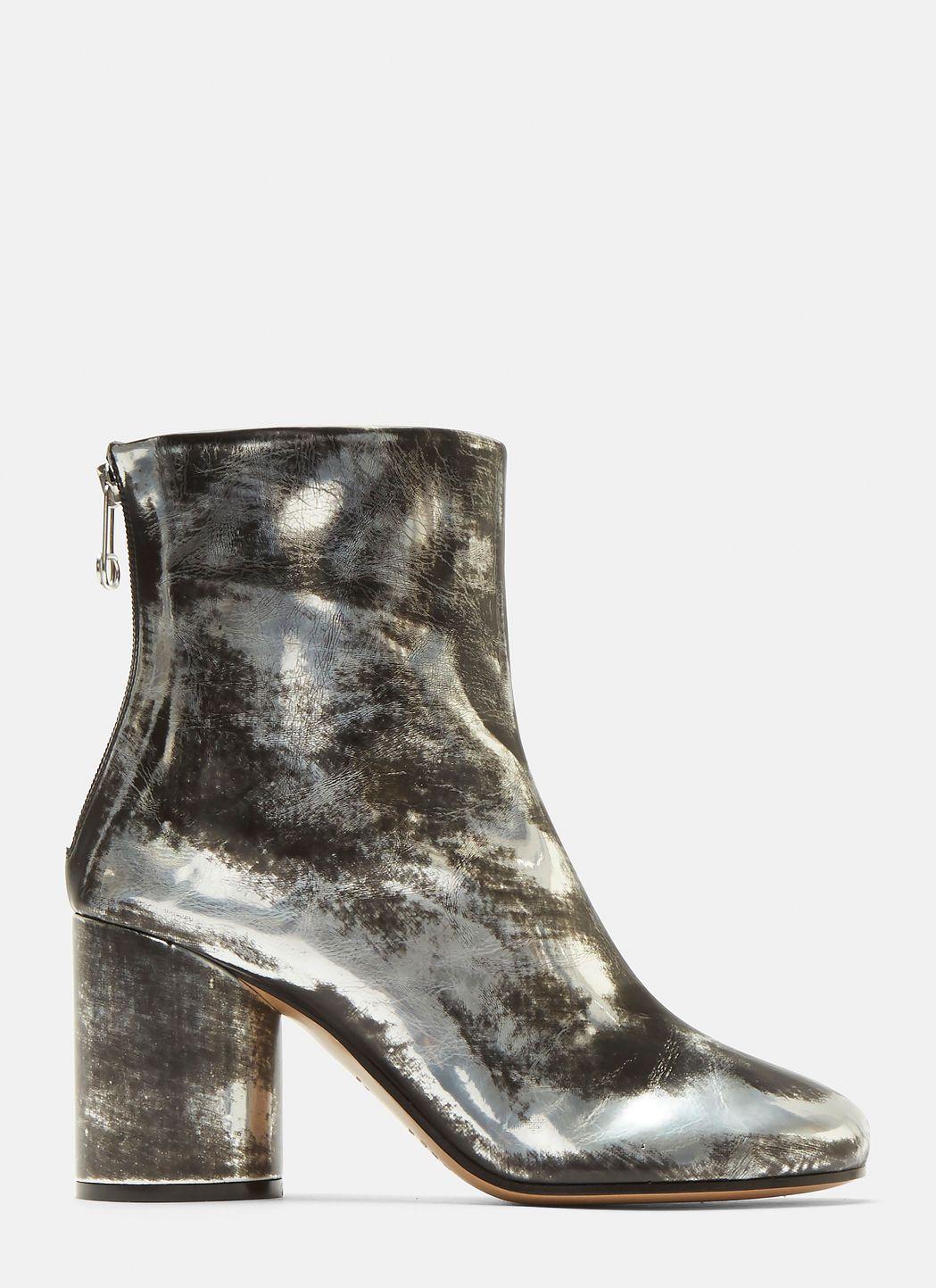 Maison Margiela Distressed Metallic Ankle Boots Best-seller À Vendre 2pBTh6Y0MX