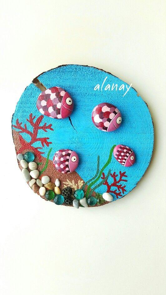 Taş Boyama Balıklar Stone Painting Taş Boyama Pinterest