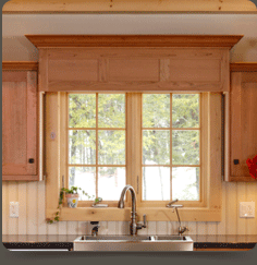 Wainscot Valance Over Sink
