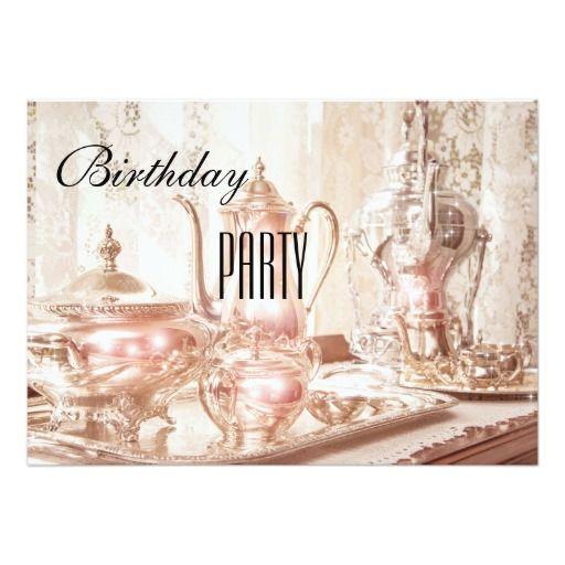 English high tea birthday party invitation birthday tea party english high tea birthday party invitation stopboris Image collections