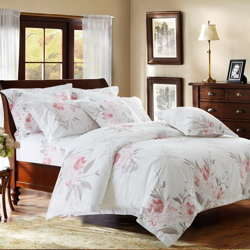 hotel bed sheets uk collection comforter sets king cotton luxury bedding simple print twin queen size double sale