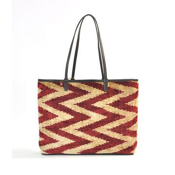 Indi Ikat Tote. velvet silk n leather. found object. $189. otherwise $ 349.