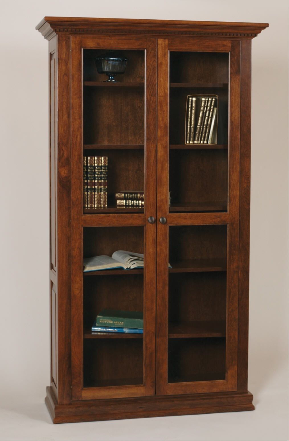 Bookcase With Glass Doors Bookcase Mission Furniture Wood bookcase with glass doors