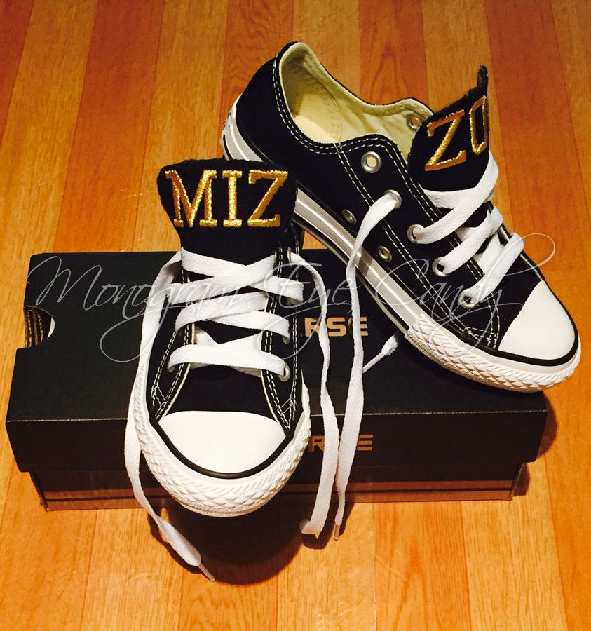 29d39443d00c12 Customized Converse Sneakers- MIZZOU Edition (Youth) – Monogram Eye Candy
